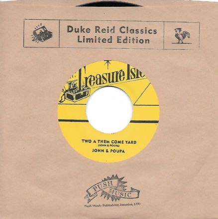 John & Poupa - Two A Them Come Yard/Baba Brooks Band - Teenage Ska (Treasure Isle/Corner Stone) 7""